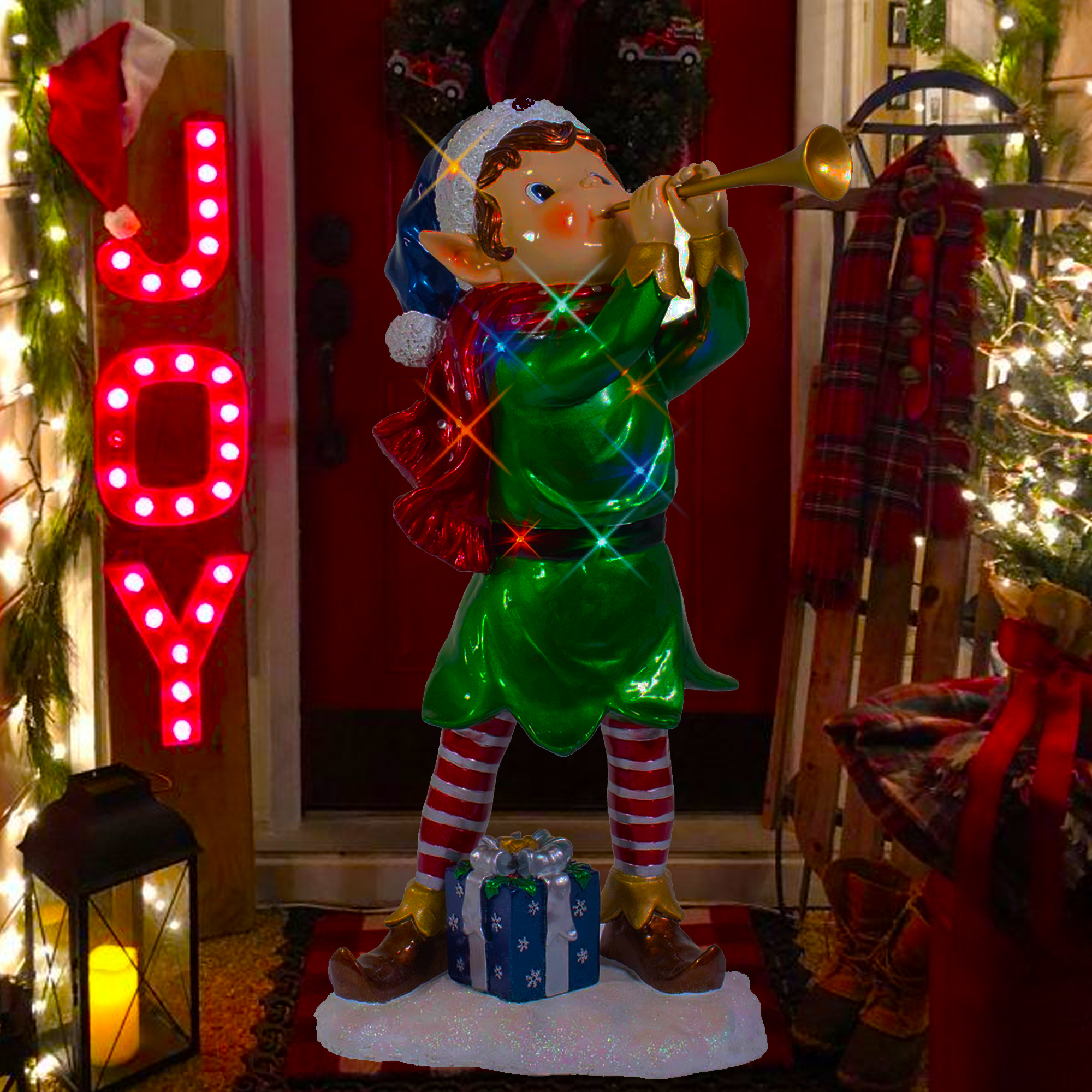Elf Navidad vacaciones al aire libre de decoraci³n y adornos