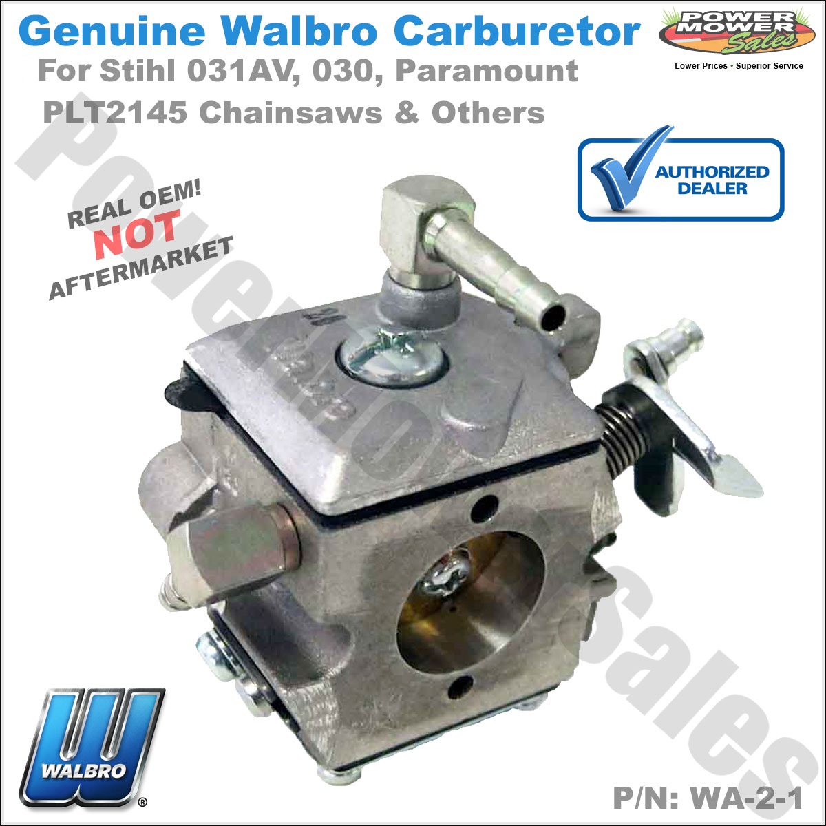 Gaskets Carburetor For Walbro WA-2-1 Stihl 031AV 030 Paramount PLT2145 Chainsaw