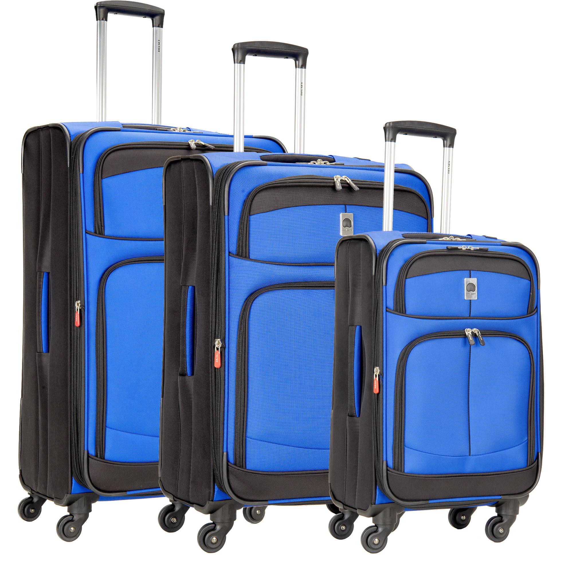 delsey agility softside 3 piece nested luggage set 21 25 29 martlocal. Black Bedroom Furniture Sets. Home Design Ideas