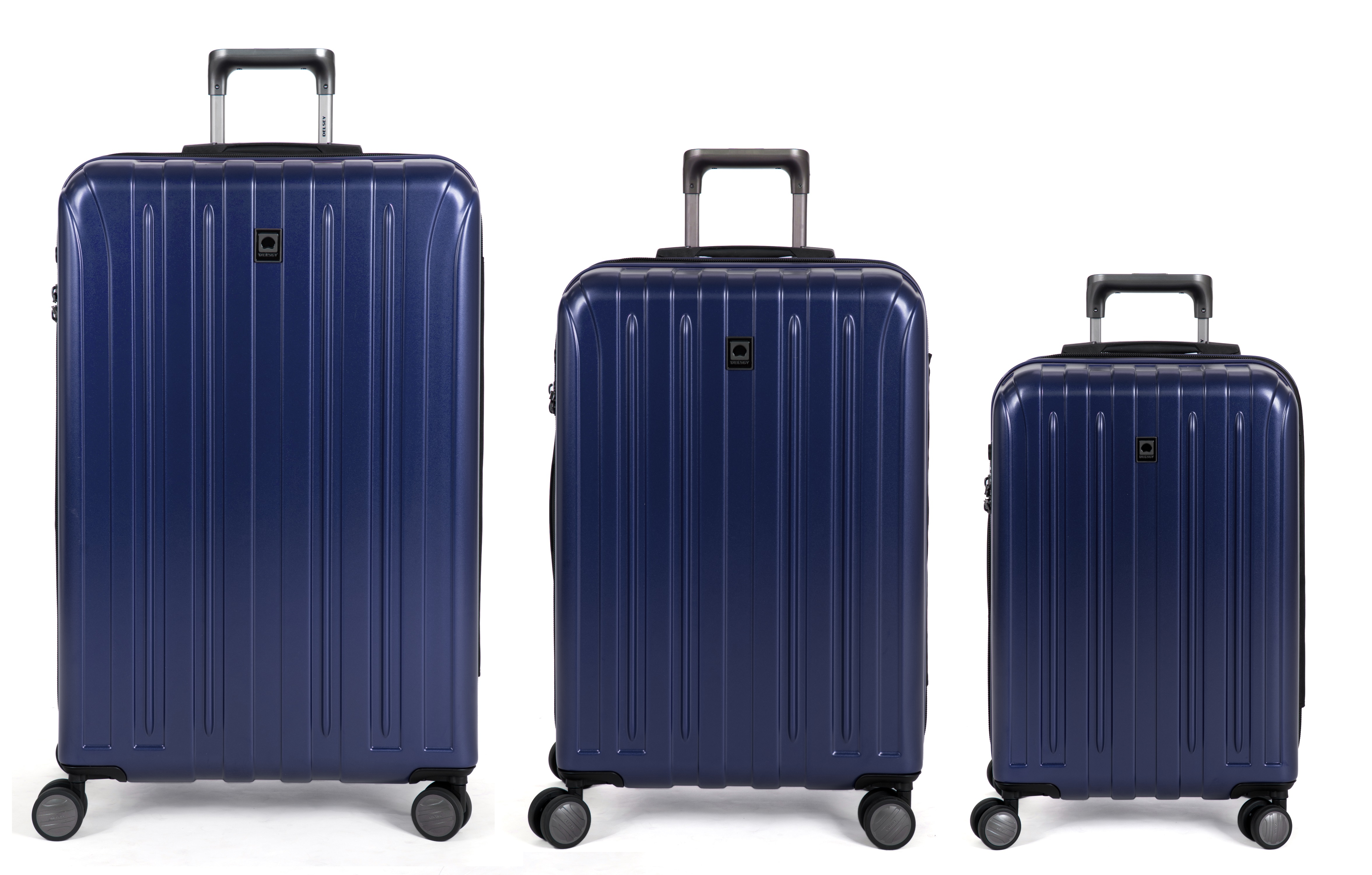 delsey luggage helium titanium hardside 3 piece luggage set 21 25 29 ebay. Black Bedroom Furniture Sets. Home Design Ideas