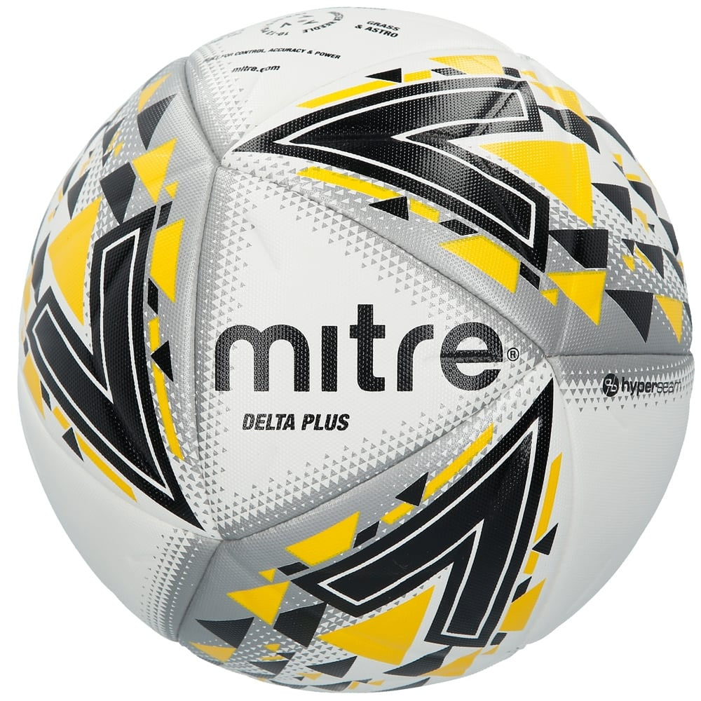 22cf4fbc95728 Details about Mitre Delta Plus Match FIFA Pro Football Soccer Ball White  Size 5