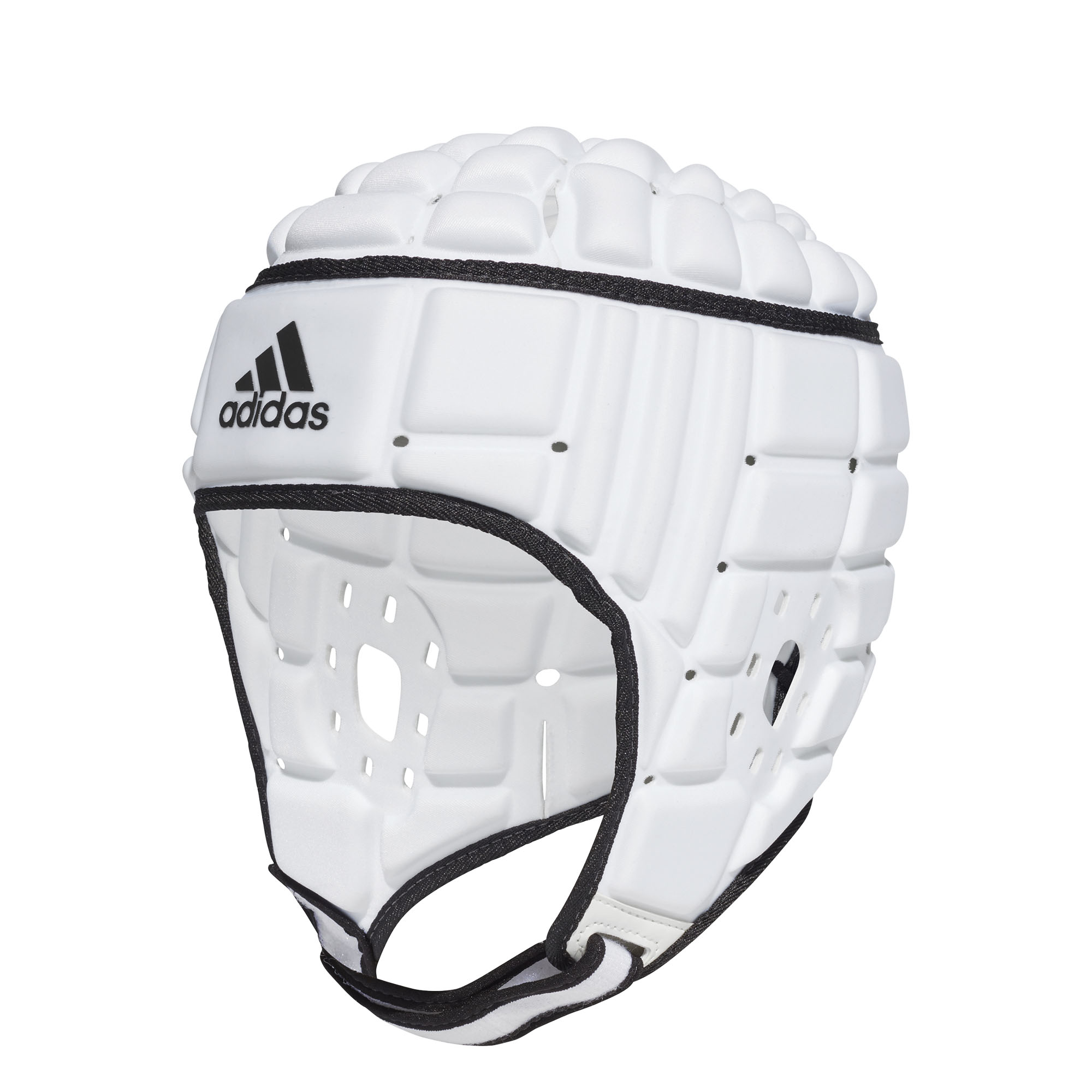8ba981d7d70 Details about adidas Rugby Headguard Scrum Cap Head Protection White