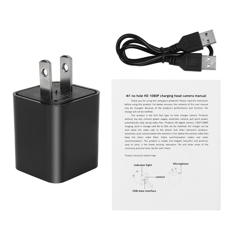 32gb Hd1080p Mini Usb Wall Adapter Us Plug Charger Spy
