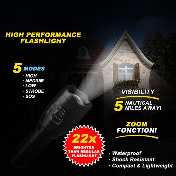 flashlight taclight as seen on tv high powered tactical tool adjustable focus. Black Bedroom Furniture Sets. Home Design Ideas
