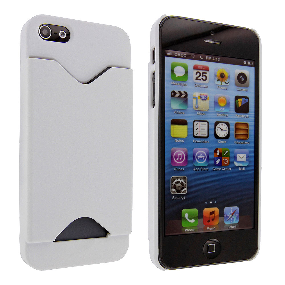 iphone 5s case with card holder white back cover with credit card holder for iphone 5 5958