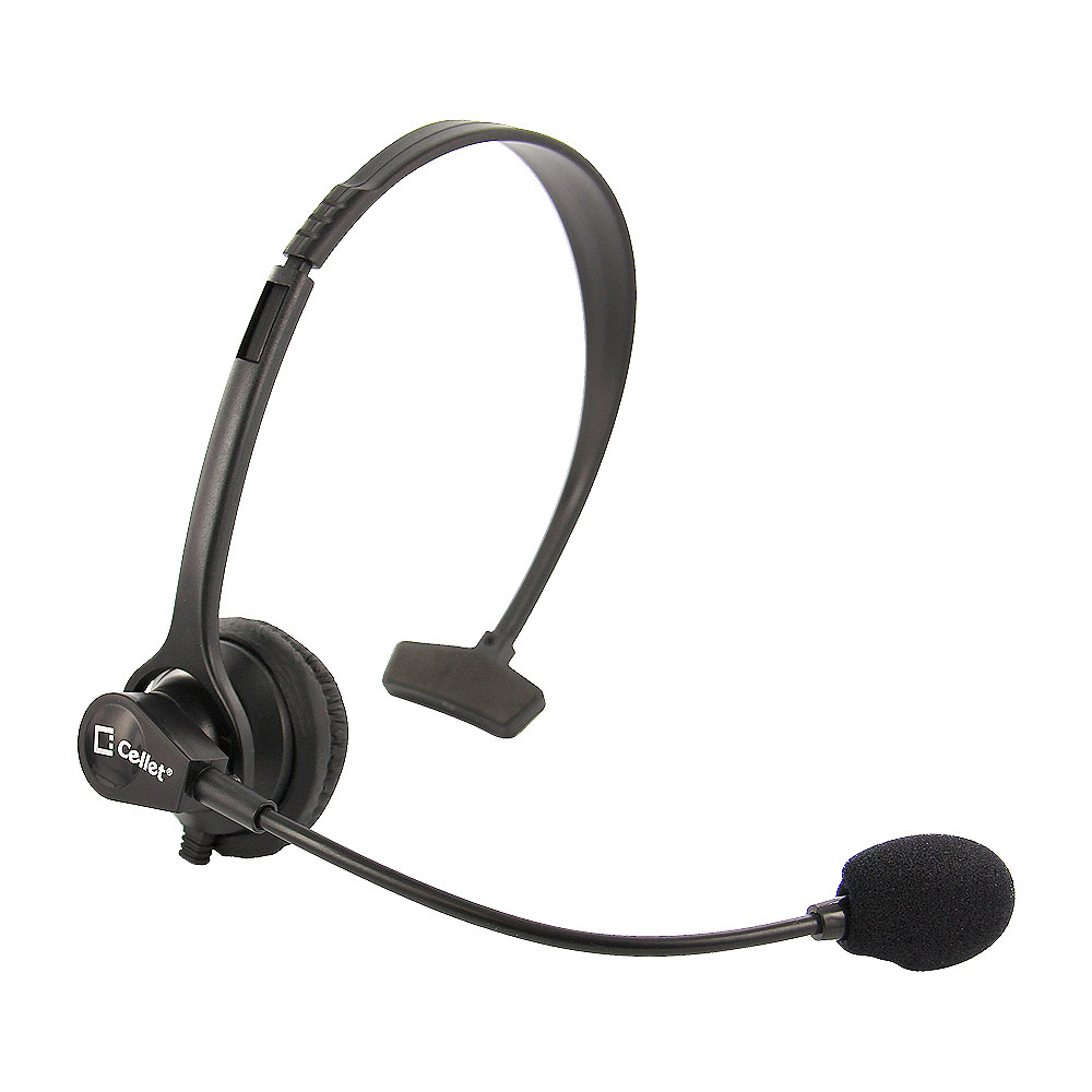 Cellet 3.5mm Hands-Free Headset With Boom Mic For Home