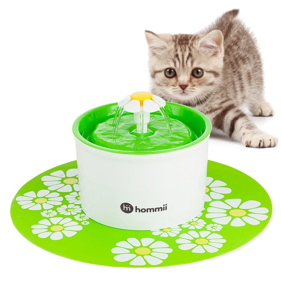 hommii chat chien chaton eau potable fontaine pet filtre de pompe fresh with mat ebay. Black Bedroom Furniture Sets. Home Design Ideas