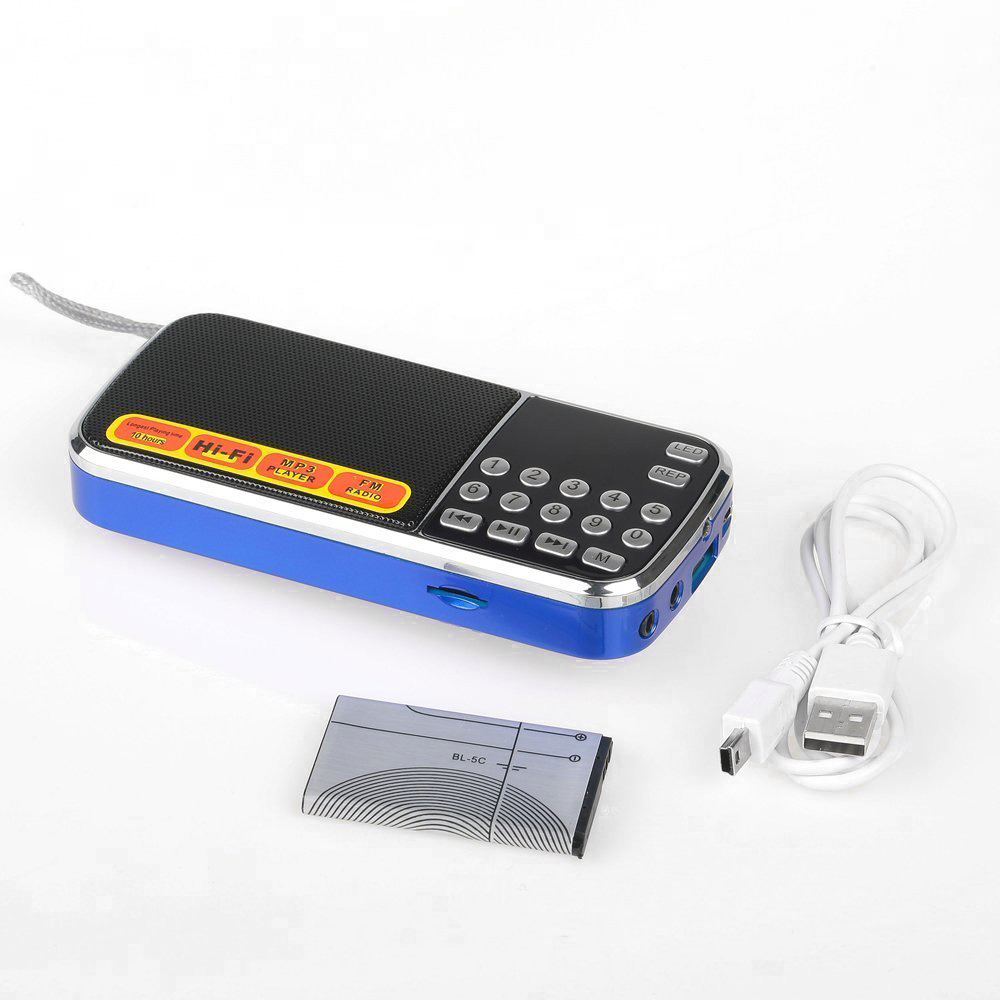 us mini lcd digital fm radio receiver speaker usb micro sd. Black Bedroom Furniture Sets. Home Design Ideas