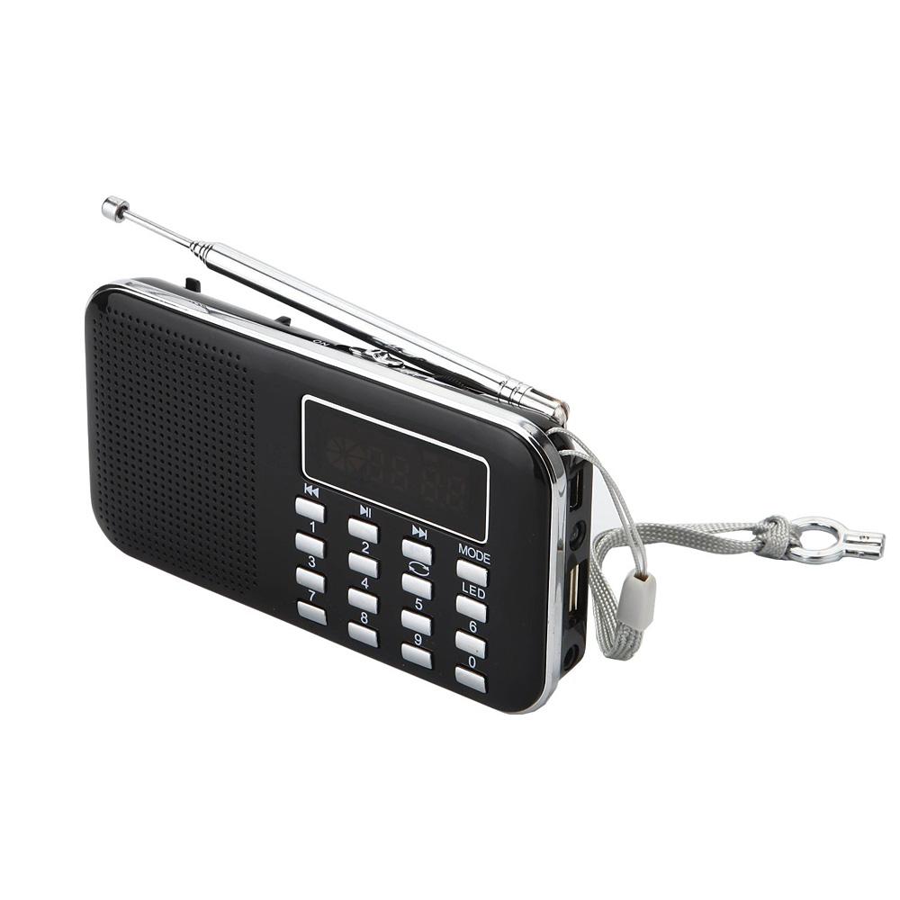 lcd portable digital fm radio speaker usb micro sd tf card. Black Bedroom Furniture Sets. Home Design Ideas