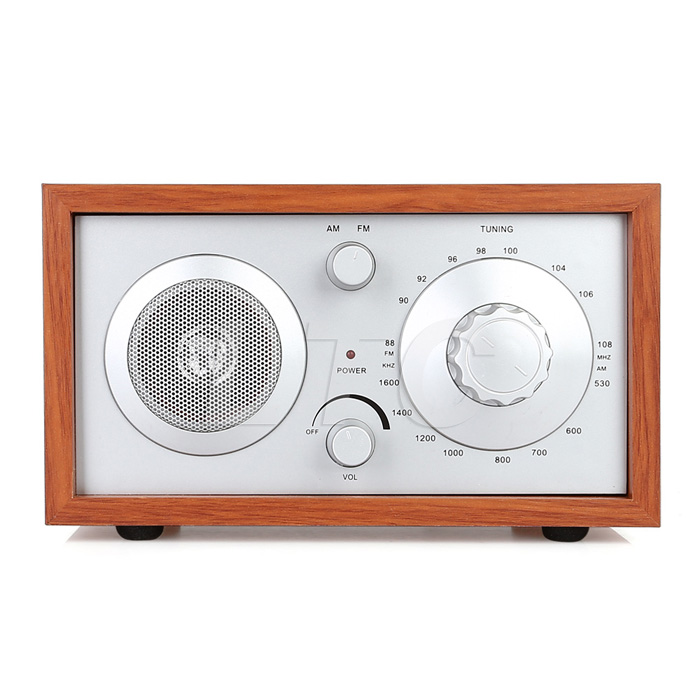 radioddity sy 602 classic wooden case am fm table top radio cabinet receiver. Black Bedroom Furniture Sets. Home Design Ideas