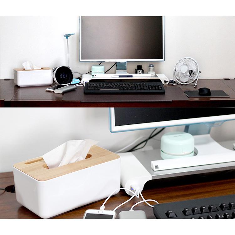 monitor st nder bildschirm schreibtischregal mit usb f r pc laptop macbook ebay. Black Bedroom Furniture Sets. Home Design Ideas