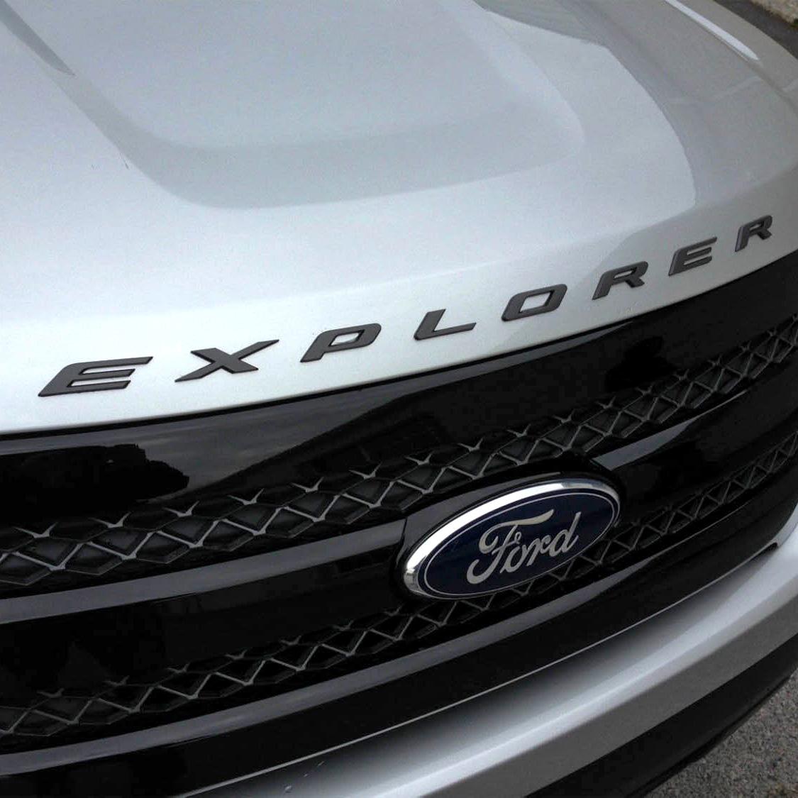 2016 Ford Explorer Sport For Sale >> 2011- 2016 Car Graphite Hood Emblem Letter Letters Ford Explorer Sport Gloss | eBay