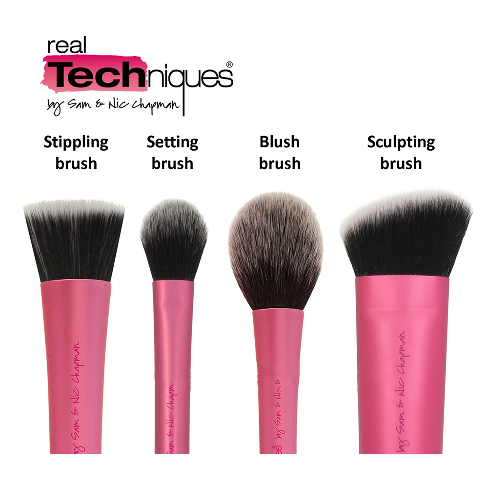 real techniques core collection new packaging. pro-make-up-makeup-brushes-set-core-collection- real techniques core collection new packaging