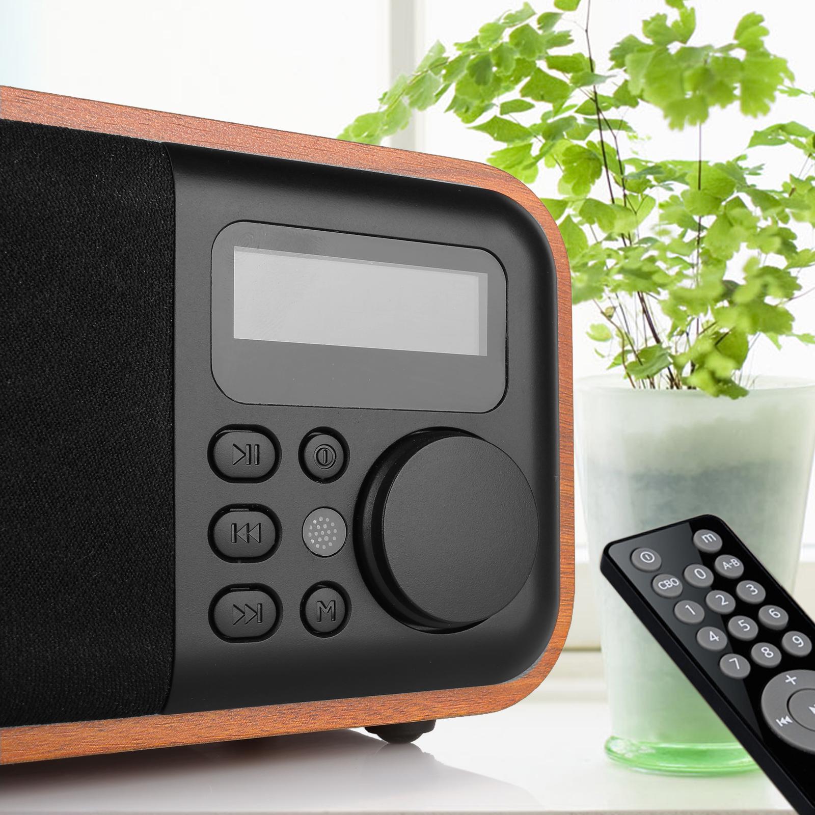 instabox wooden digital speaker bluetooth fm radio alarm. Black Bedroom Furniture Sets. Home Design Ideas