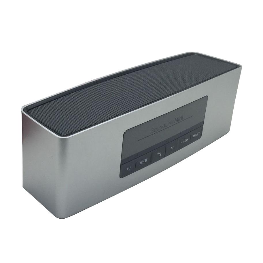 portable wireless bluetooth lautsprecher super bass stereo f r handy pc silber ebay. Black Bedroom Furniture Sets. Home Design Ideas