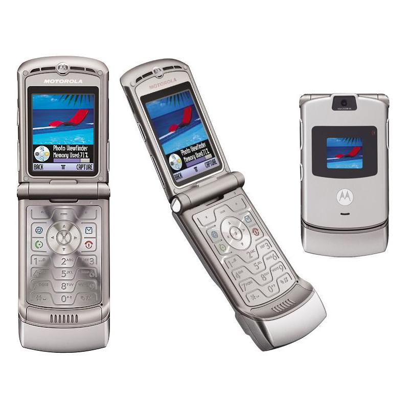 motorola v3 razr mobile phone flip cellular phone camera