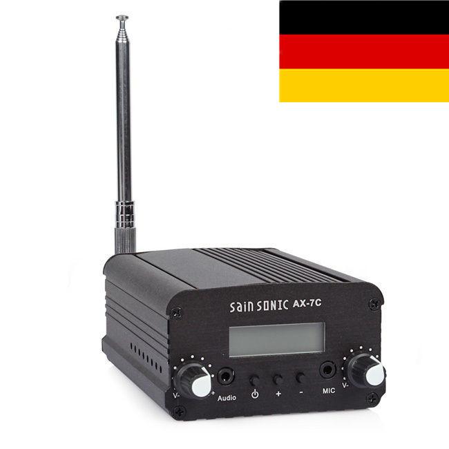 CZE-7C-FM-Stereo-Sender-Transmitter-7W-UKW-PLL-Station-Netztel-Antenna