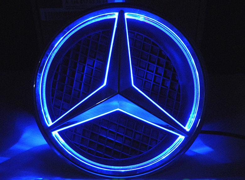 Led emblem stern motorhaube hood logo wei f r mercedes for Mercedes benz insignia
