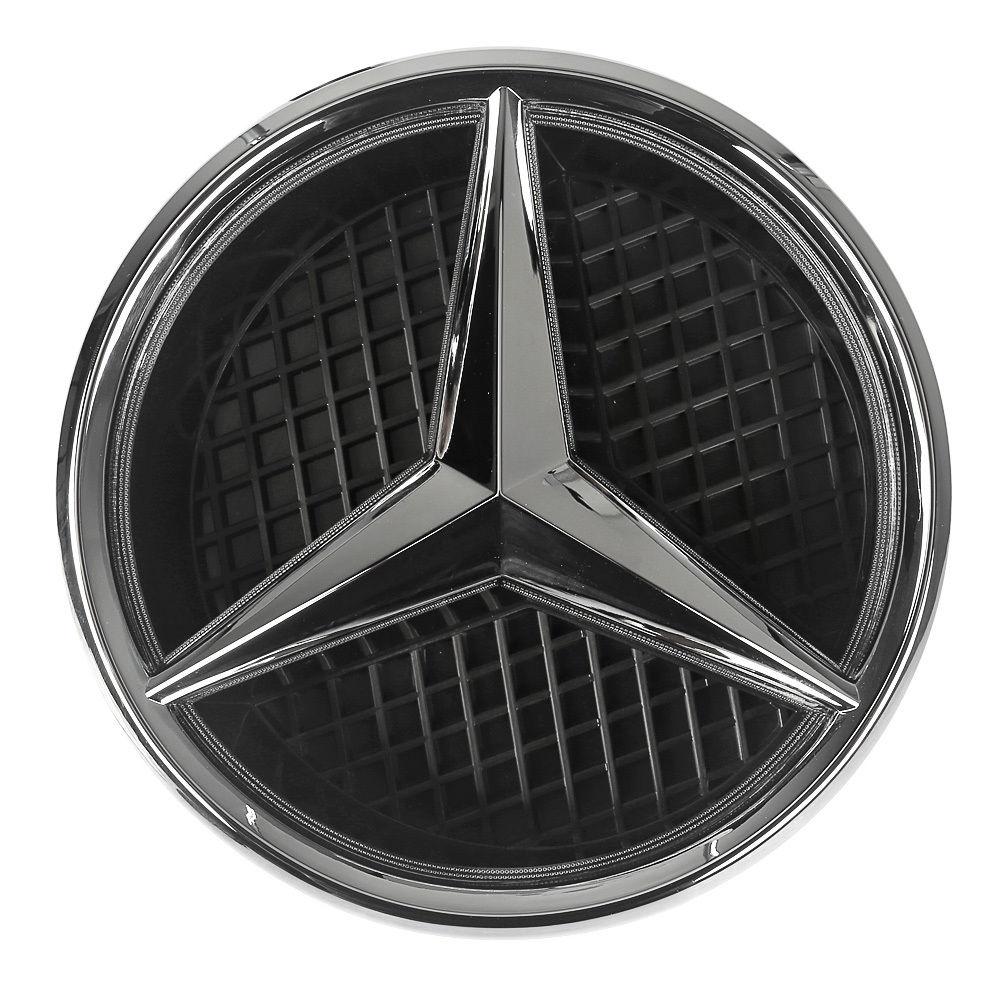 led emblem stern motorhaube hood logo wei f r mercedes benz. Black Bedroom Furniture Sets. Home Design Ideas