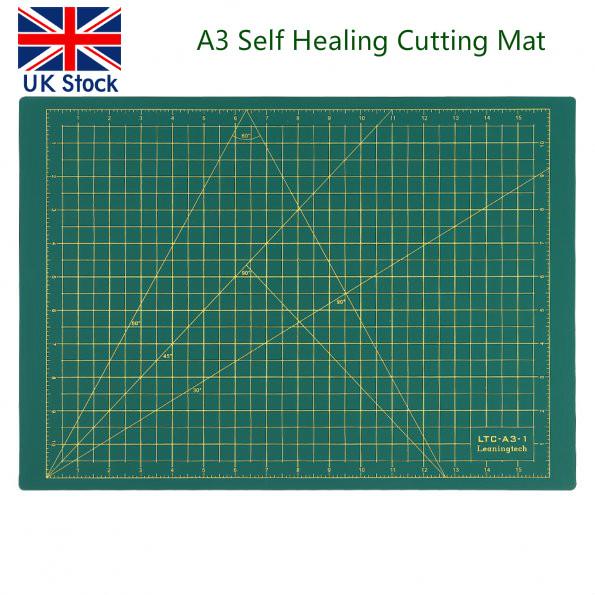 Uk ship a3 cutting mat self healing printed grid lines for Self healing craft mat