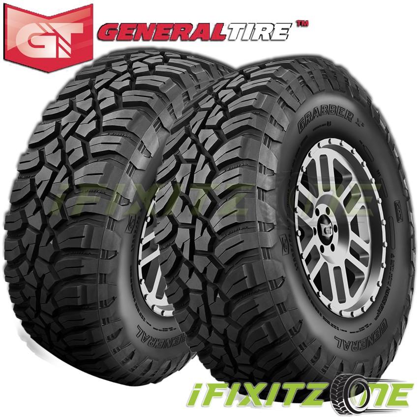 2 General Grabber X3 LT285/75R16 126/123Q 10-Ply/E Off-Road JEEP Truck Mud Tires