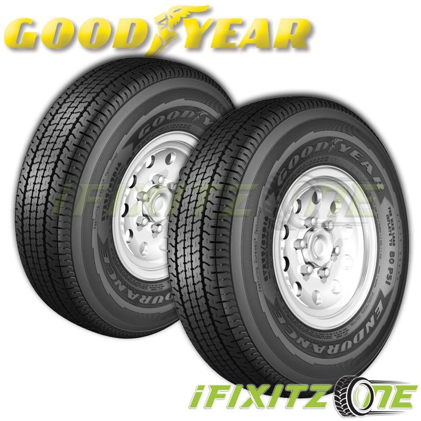 Brand New ST225//75R15 GOODYEAR ENDURANCE Trailer tires 117N 2257515-225-75-15