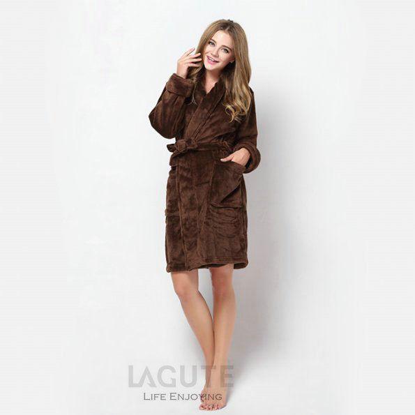 lagute homme femme peignoir de bain pyjamas robe de chambre peluche bathrobe ebay