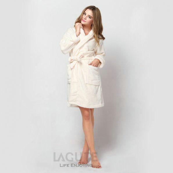 lagute homme femme peignoir de bain pyjamas robe de chambre peluche bathrobe ebay. Black Bedroom Furniture Sets. Home Design Ideas