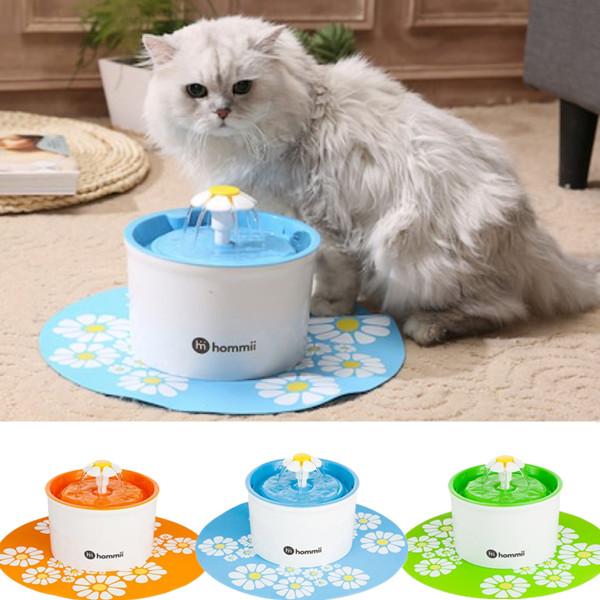 Hommii Haustier Blumentrinkbrunnen Automatisch Trinkbrunnen für Pet Katzen Hunde