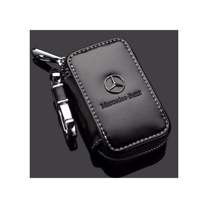 New genuine leather cow car key holder key ring chain case for Mercedes benz key pouch