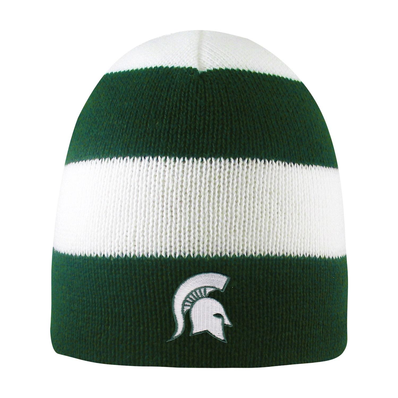 Michigan state university rugby striped knit beanie ebay jpg 1500x1500 Msu knit  hat d9e93a3989d1