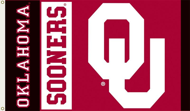 University Of Oklahoma Sooners Logo Flag 646648016289 Ebay