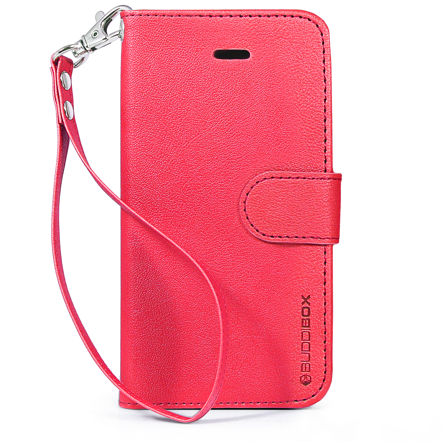 iphone 5c wallet case buddibox premium leather wallet for apple iphone 5c 14714