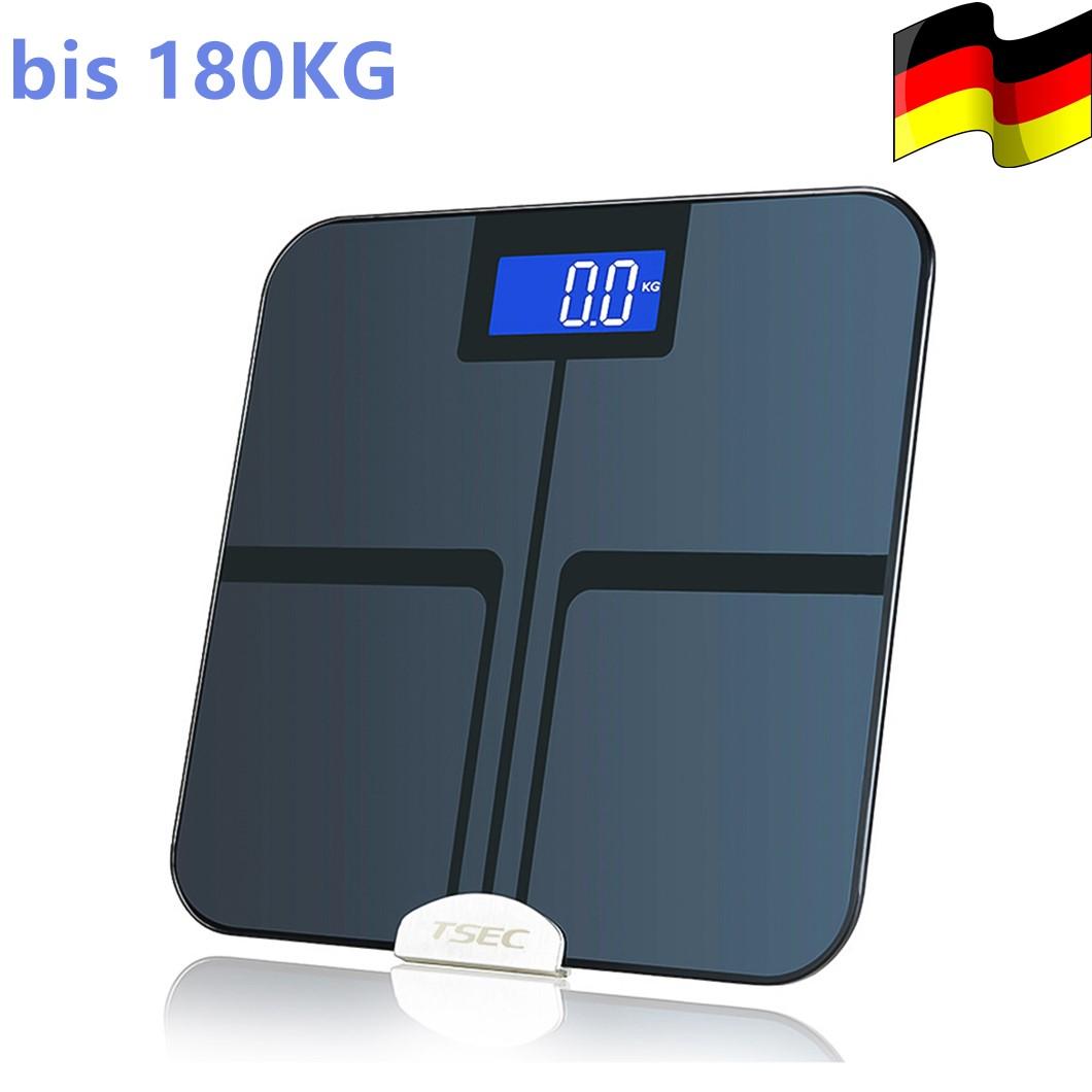 Digitale Personenwaage Körperwaage Gewicht-Waage Wage Badezimmerwaage Glas scale