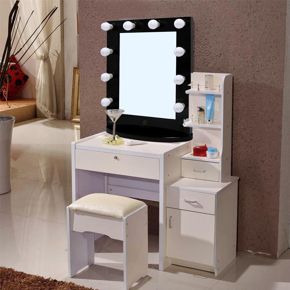Led Kosmetikspiegel Standspiegel Beleuchteter Spiegel Schminkspiegel Hollywood Badzubehör & -textilien
