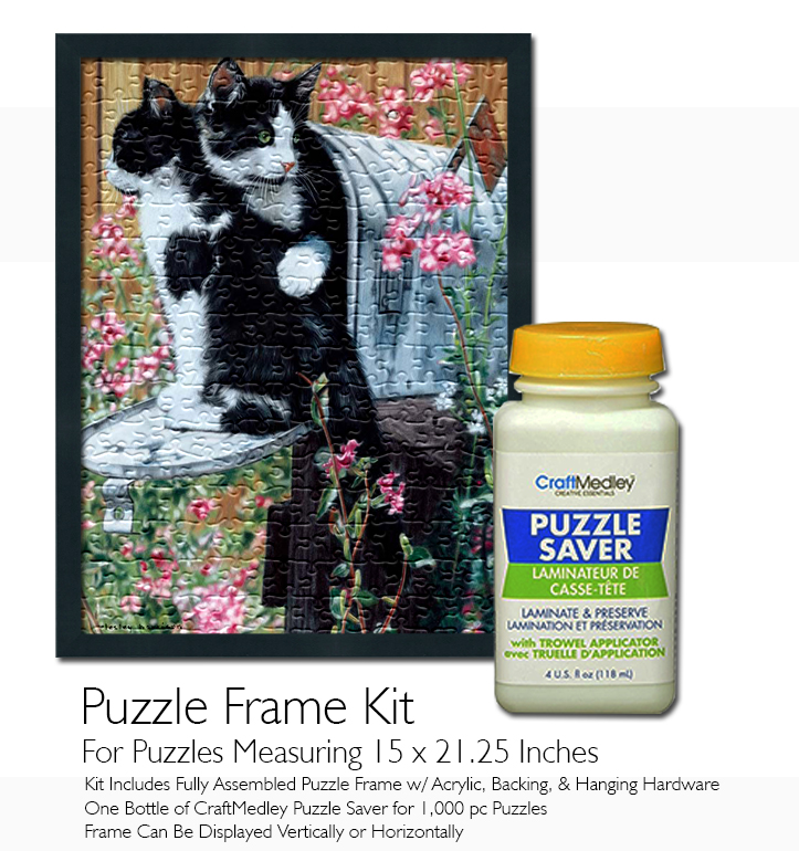 Jigsaw Puzzle Frame Kit - For 21.25x15 Inch Puzzles - Craft Medley ...