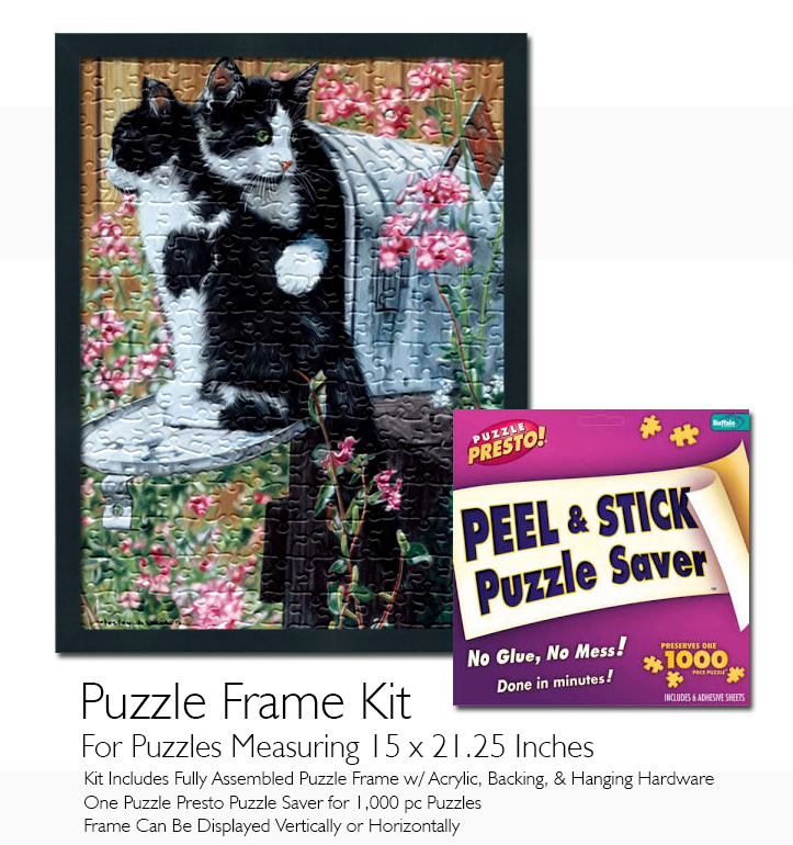 Jigsaw Puzzle Frame Kit - Made To Display Puzzles Measuring 21.25x15 ...