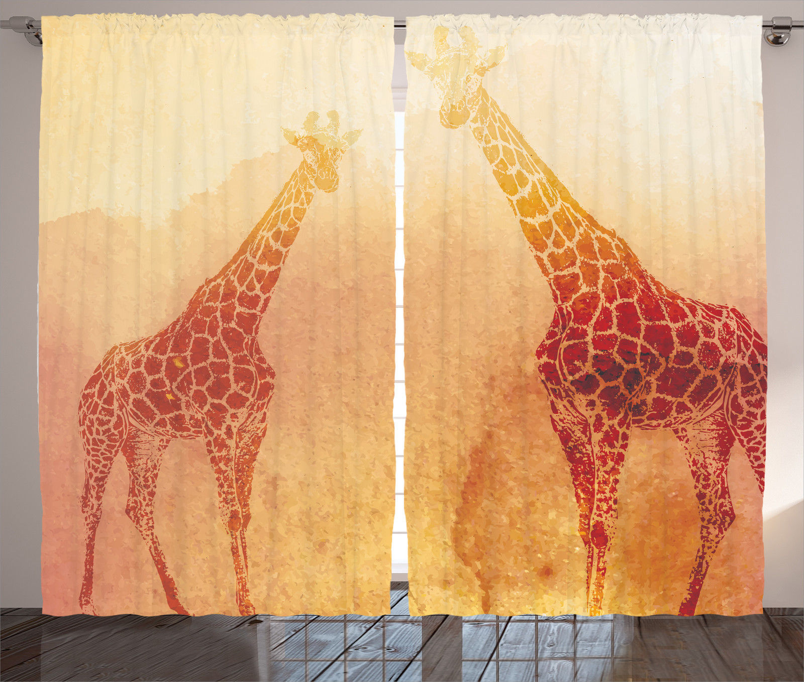 Illustration Of African Giraffe Animal Retro Vintage Print