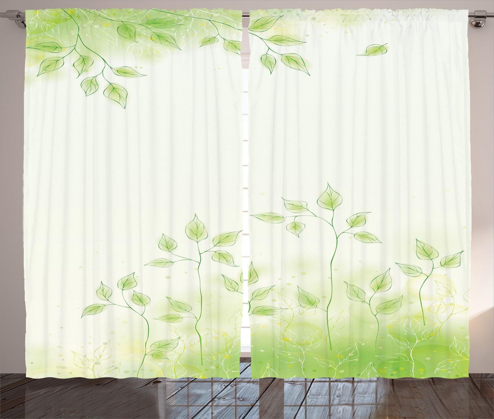 Foliage Design With Green Leaves Theme Botanical Zen Decor