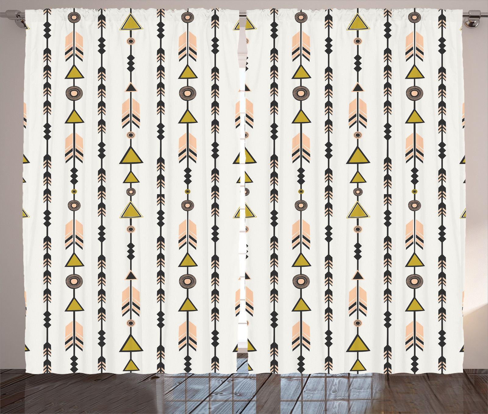 Tribal Style Arrow Geometric Patterns Cultural Boho Print
