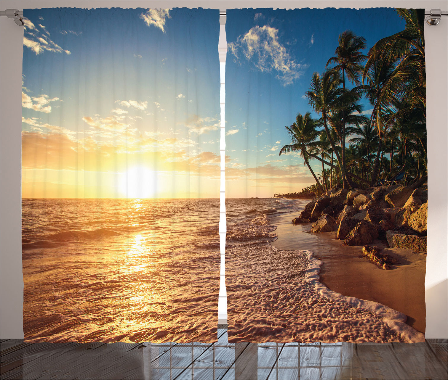 Exotic Beach: Tropical Beach Theme Sunrise Morning Exotic Nature Picture