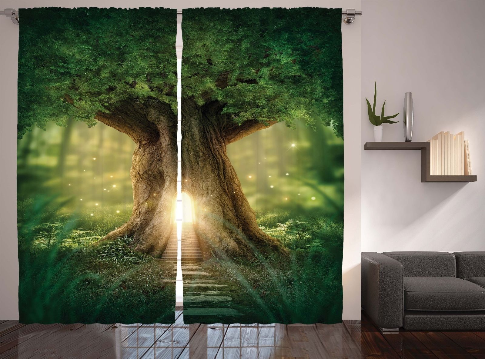 Bohemian Yoga Decor Fairy Tree Of Life In Rainforest