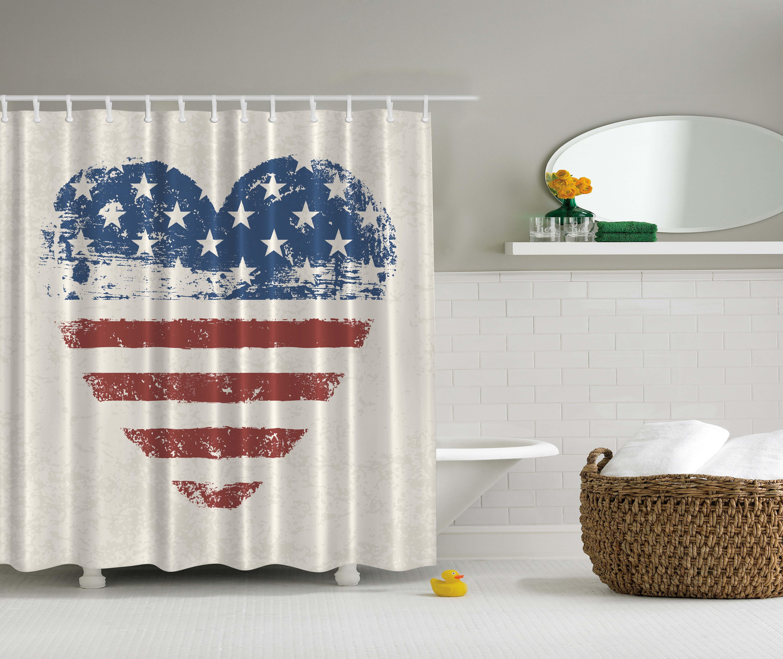 Americana Home Decor Patriotic USA Flag Heart Stars And