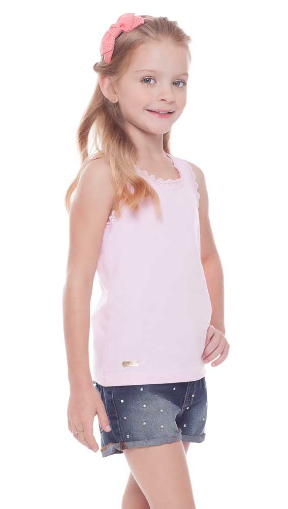 3a7593dff Girls Tank Top Lace Tee Summer Kids Clothing 2-10 Years Pulla Bulla ...