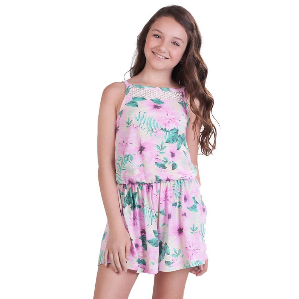 Pulla Bulla Big Girl Floral Romper Sleeveless Jumpsuit   EBay