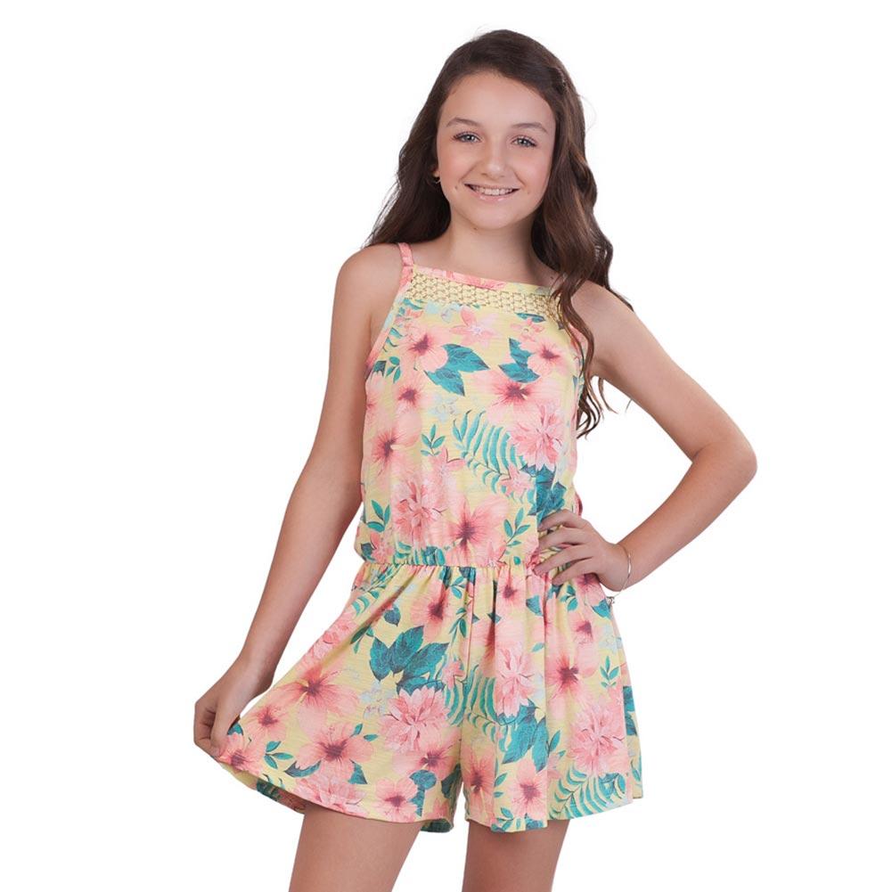 Pulla Bulla Big Girl Floral Romper Sleeveless Jumpsuit | eBay