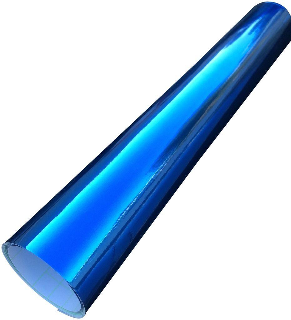 Miroir Chrome BLEU A4 200MM X 300MM Vinyle Wrap Bulle Gratuit Autocollant Véhicule