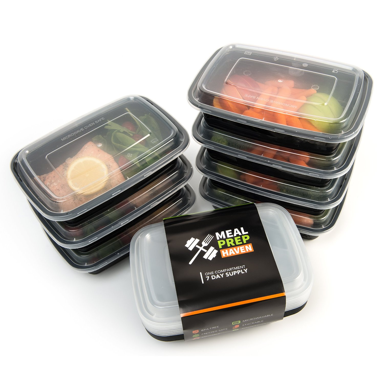 7 pack reusable bento food containers for meal prep tanga. Black Bedroom Furniture Sets. Home Design Ideas
