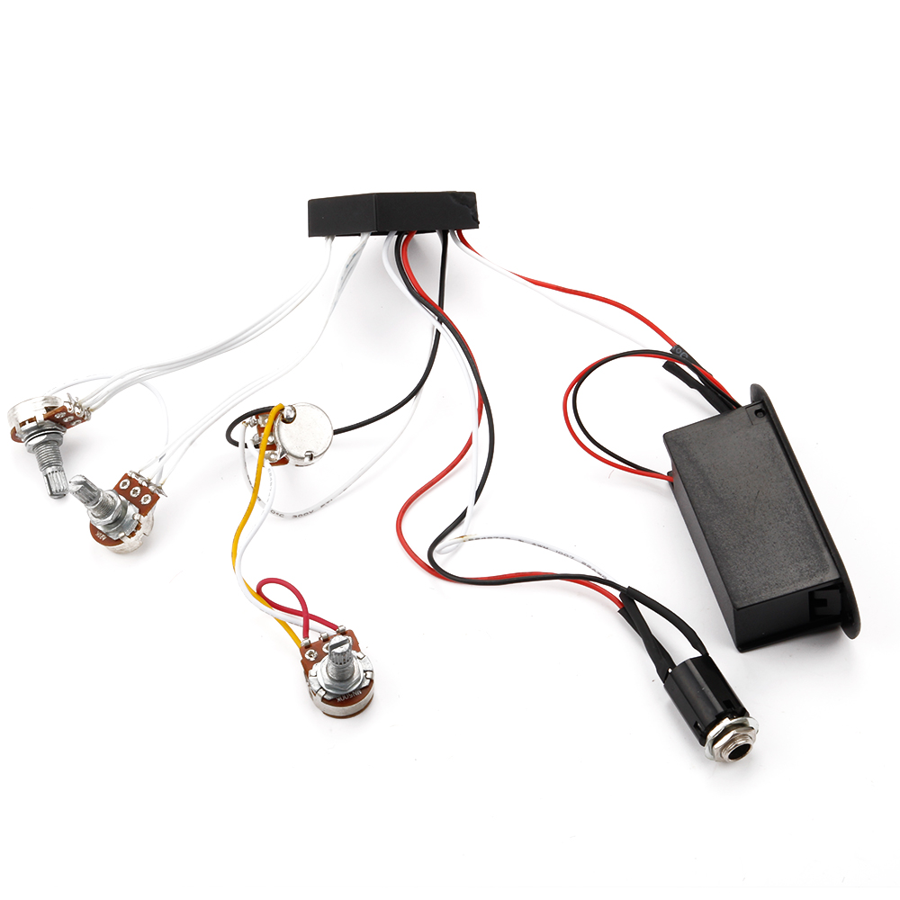 2 band active eq preamp circuit for bass pickup 1 volume 3 tone pots ebay. Black Bedroom Furniture Sets. Home Design Ideas
