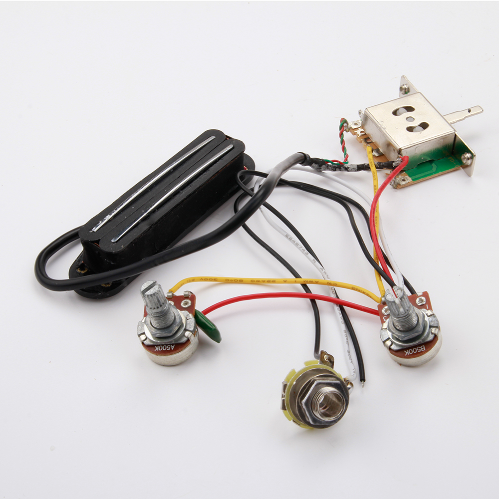 electric guitar pickup jack prewired wiring harness new 3-way switch volume tone | ebay acoustic guitar pickup wiring diagram #6